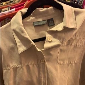 Relativity brand faux suede shirt size large